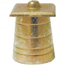 Plomb conique de maçon avec plaque