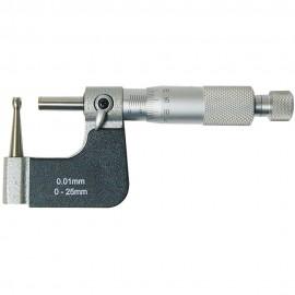 Micromètre pour parois de tube 0-25 mm