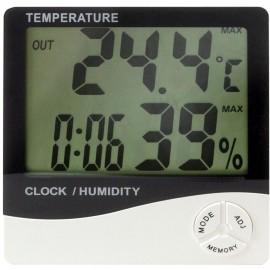 Thermomètre hygromètre + horloge + calendrier