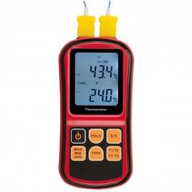 Thermomètre thermocouple avec 2 entrées
