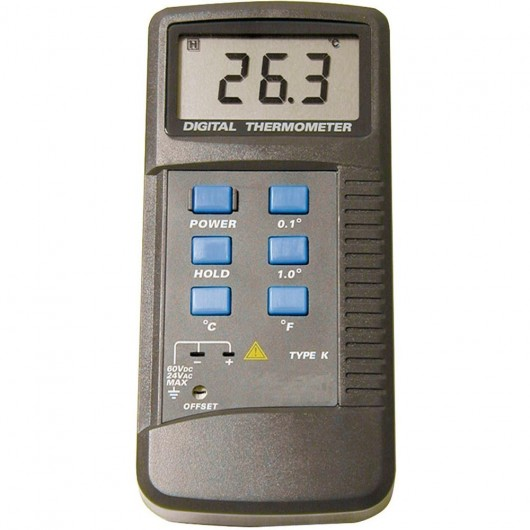 Thermomètre thermocouple 1 entrée