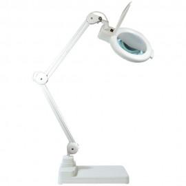 Lampe loupe lumineuse à LEDS sur socle lourd